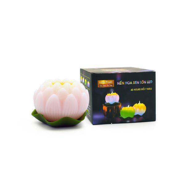 Nến hoa sen lớn Led – Nến LED, nến điện tử Quang Minh Candle