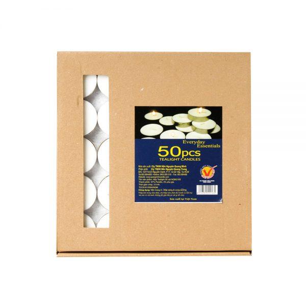 Hộp nến tealight 50 cái NQM 2165 - Nến giáng sinh Quang Minh Candle