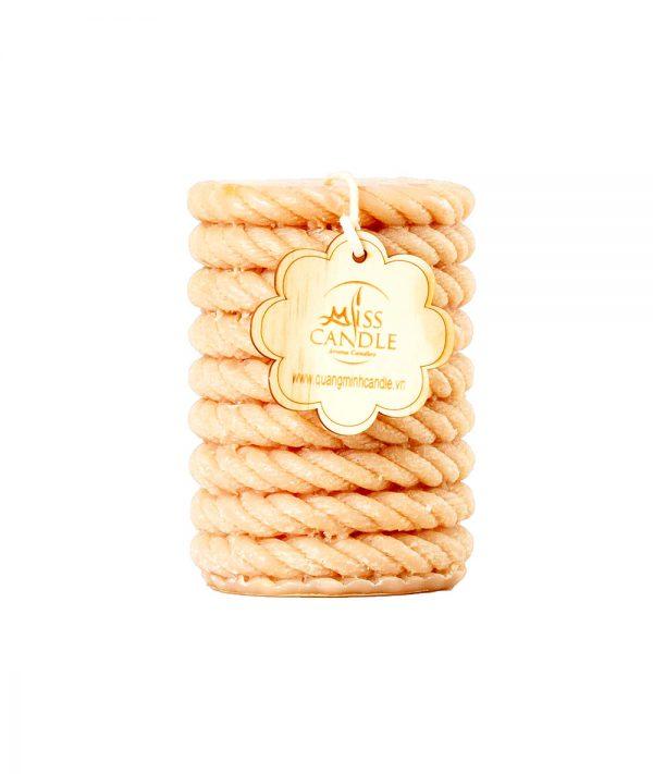 Nến trụ dây thừng D7H15 - Nến trụ thơm Quang Minh Candle