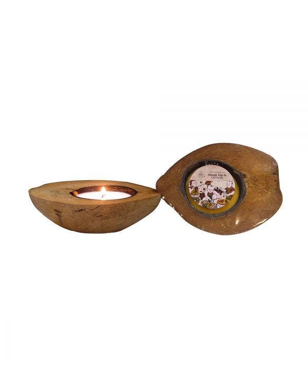 Nến dừa nửa trái - Nến du lịch Quang Minh Candle