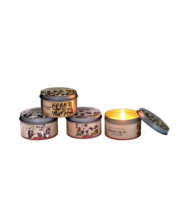 Set quà hộp tin thơm - Nến du lịch Quang Minh Candle